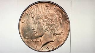 EXTREMELY RARE DOUBLE STRUCK 1922 PEACE DOLLAR WORTH BIG MONEY