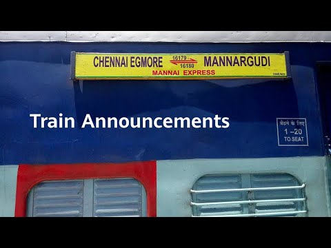 16179/ Mannai Express Announcements At Chennai Egmore | Indian Railway Train Announcements
