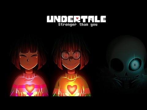 Undertale - Stronger Than You - Frisk/Chara & Sans Trio [Lyric Video]