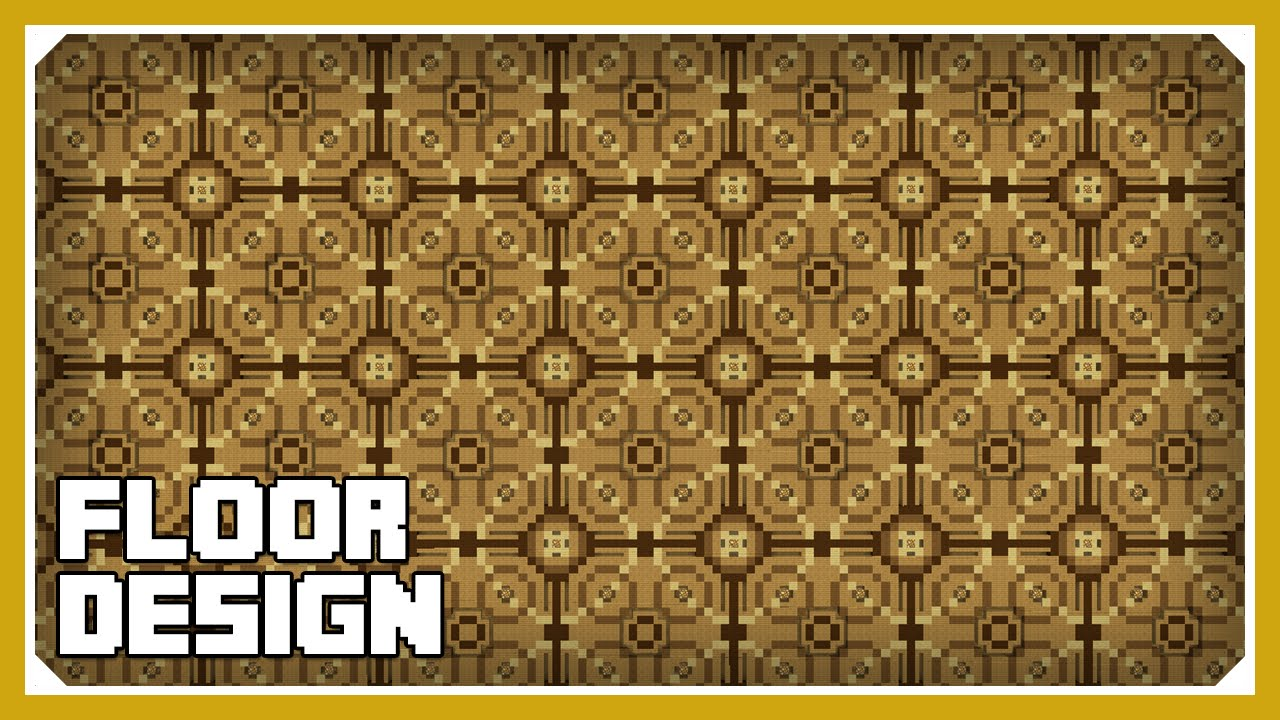 Minecraft: How To Build A Floor Design