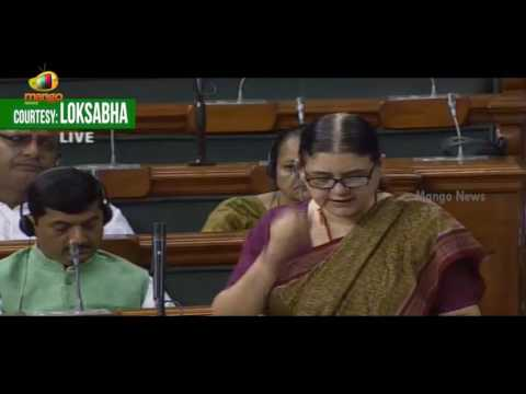 Maneka Gandhi Full Speech Over Sustainable Development Goals   Lok Sabha   Parliament Session