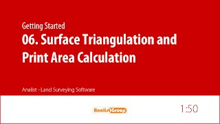 Analist 2015 - Surface triangulation and Print area calculation
