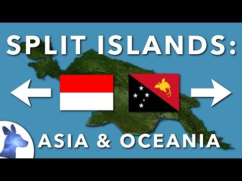 Split Islands Of SE Asia And Oceania