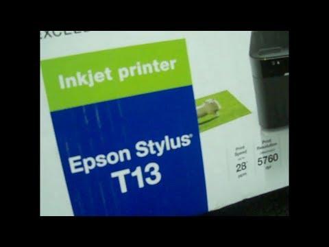 Epson Stylus T13 Printer Unboxing