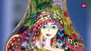 بيسان ابو رزق - الرسم على الزجاج