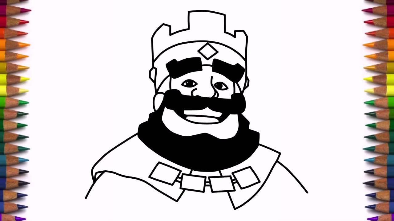 How To Draw Clash Royale King Step By Step Face Drawing Youtube Drawing King