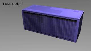 Shipping Container - Low-Poly 3D Artwork - The Making Of...