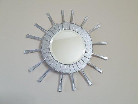 Espejo con tenedores de plastico mirrow with plastic forks youtube - Espejo de plastico ...