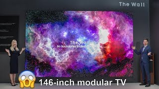 """💥Samsung Unveils """"The Wall,"""" the World's First Modular MicroLED 146-inch TV !!"""