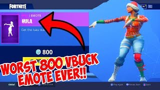 THE WORST 800 VBUCK EMOTE EVER!... (HULA) Fortnite ITEM SHOP [September 10] | Rainz