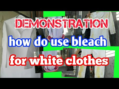 How Do Use Bleach For White Clothes Remove All Stain Very Easily