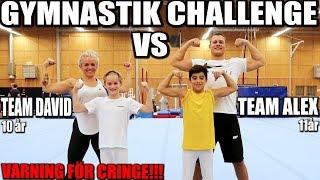 GYMNASTIK CHALLENGE *10-åring VS 11-åring, CRINGE VARNING*
