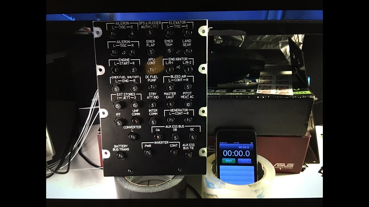 A 10c Home Cockpit Implementing Poppable Circuit Breakers Youtube