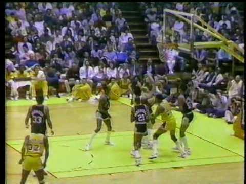 'Showtime' Lakers 135 Points, 66% FG Vs San Antonio Spurs (1986 WCR1 Game 1)