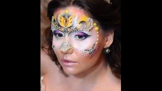 Креативный. Макияж. Маска. Работа Аэрографом и Аквагрим. Creative. Makeup. Mask.