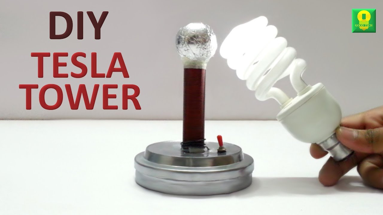 How To Make Tesla Tower At Home Youtube