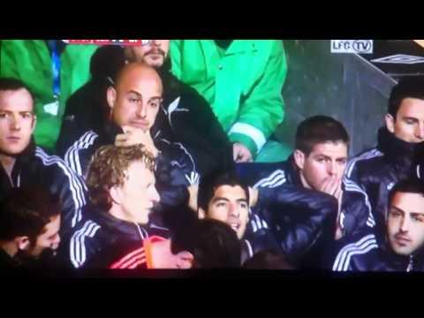 Liverpool subs fume, Brad Jones lovin' it!!! LOL