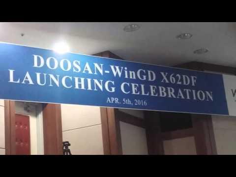 WinGD X62DF engine presentation at Doosan engine works, 05/04/2016