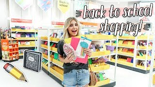 SHOPPING FOR BACK TO SCHOOL SUPPLIES 2018!!