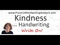 How to Identify Kindness from Handwriting Analysis Graphology