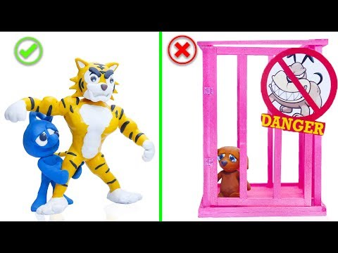 CLAY MIXER: REGRETING LIFE OF PETS 💖 Play Doh Cartoons For Kids