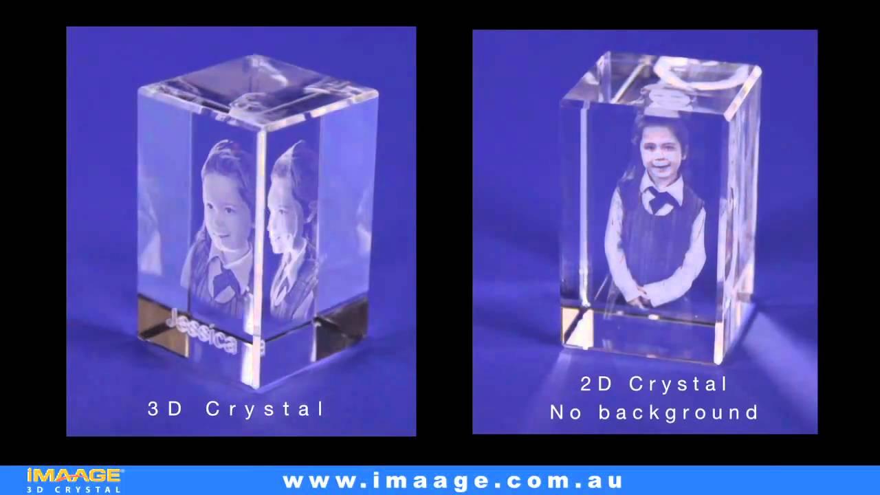 на 3d кристалле фотография