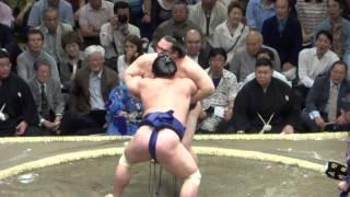 20130512 大相撲夏場所初日 稀勢の里vs妙義龍 キセノン勝つには勝った...