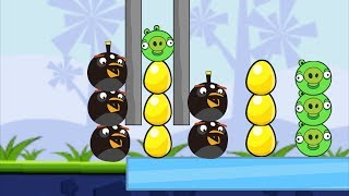Angry Birds Bomb 1 - THROW AND BLAST OUT THE PIGGIES TO SAVE GOLD EGG!!