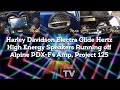 Project 125 Harley Davidson Electra Glide Hertz High Energy Speakers Running off Alpine PDX-F4 Amp