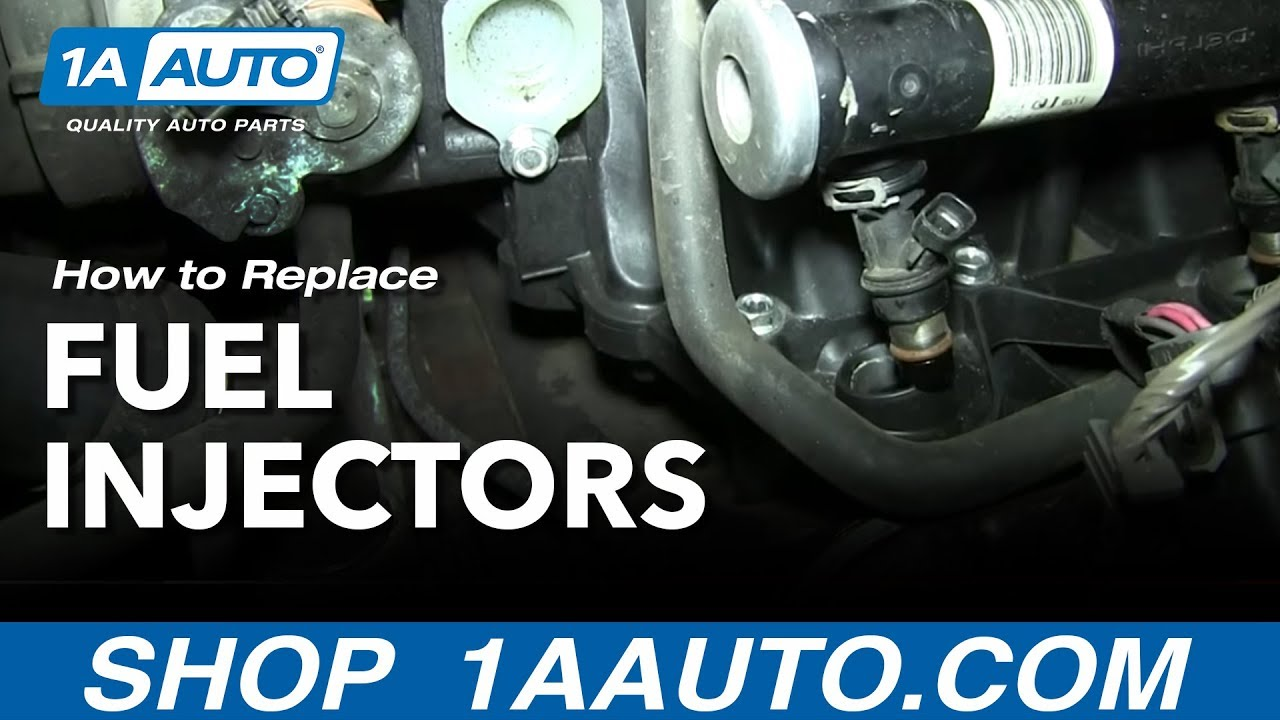 how to replace fuel injectors 01 06 chevy suburban youtube. Black Bedroom Furniture Sets. Home Design Ideas