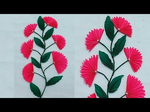 Diy paper craft  | wall decoration ideas | wall hanging | paper flower |