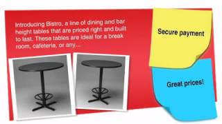 "Bistro Series: 30"" Round Table (dining Or Bar Height) - Ofconcepts.com"