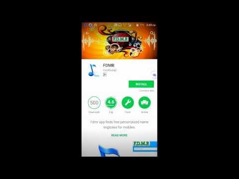 Fdmr App - Free Download Mobile Ringtones for your name