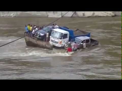 Shocking Sinking Ferry  / car Accident sinking with man/ big river accident