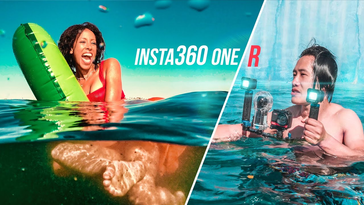 Insta360 One R Filming Over & Underwater: Dive Case accessories review, camera settings, FREE LUTs!