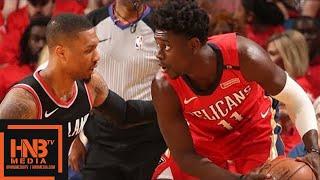 Portland Trail Blazers vs New Orleans Pelicans 1st Half Highlights / Game 4 / 2018 NBA Playoffs