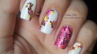 Nail Art glitter placement: Unghie Mosaico