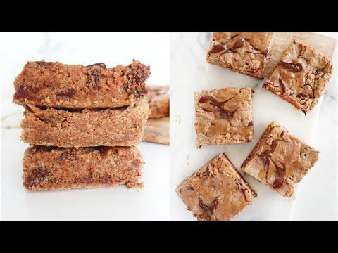 Healthy Chocolate Chip Blondies | vegan, low carb, paleo recipes