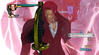 One Piece Pirate Warriors 3 Shanks Strong World Costume Level 100 Gameplay