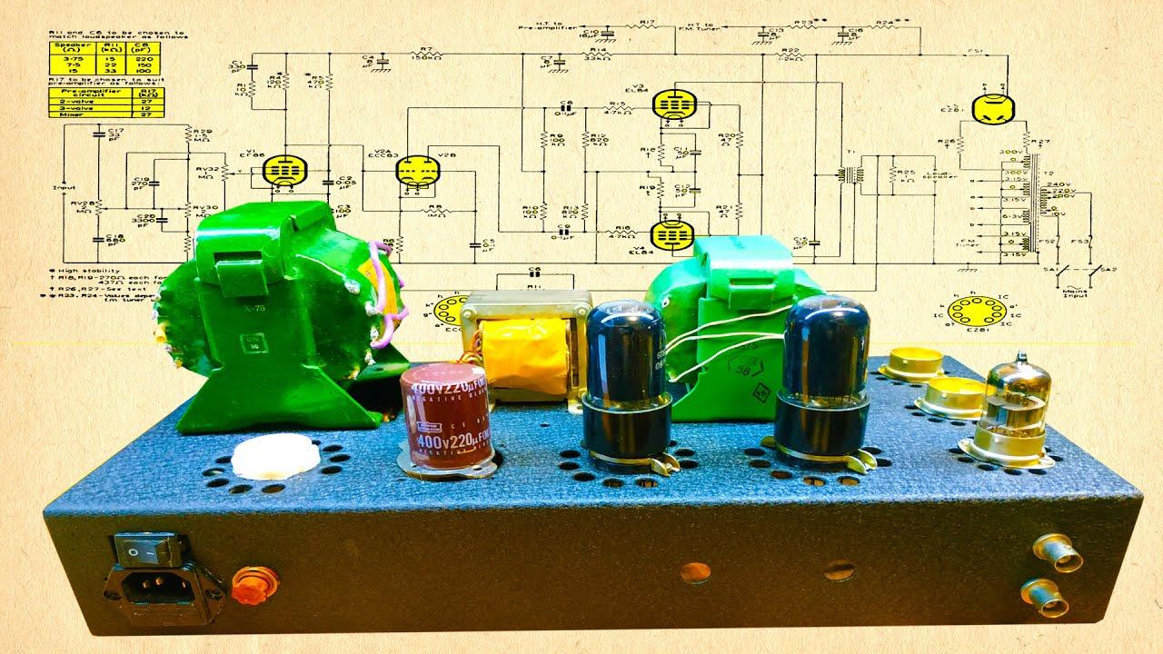 Двухтактный PP ламповый усилитель. Выходной трансформатор.