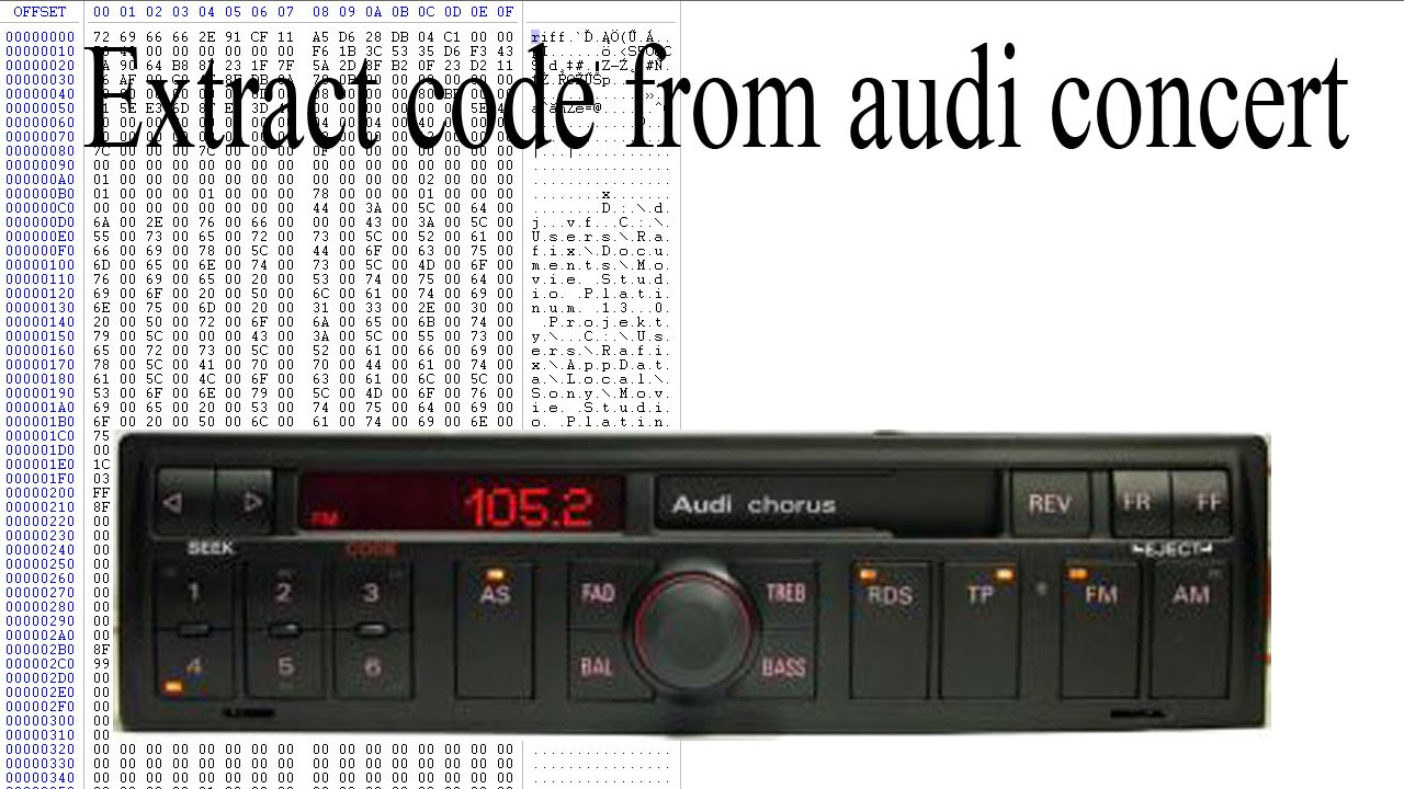 Extract Code From Audi Concert Youtube