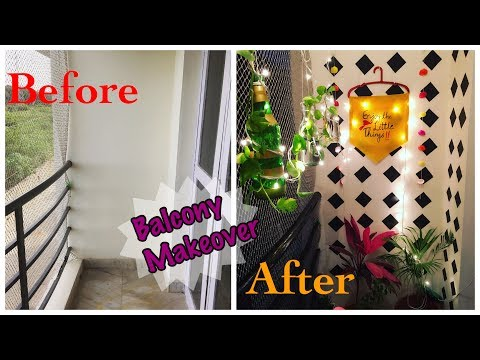 Balcony Makeover DIY ll Rental Balcony Décor - Zero Money DIY's