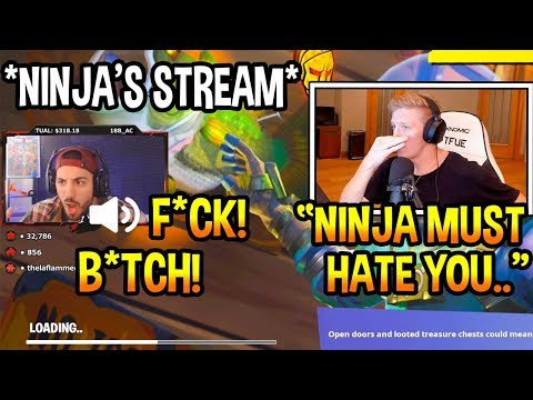 Tfue Reacts To Nickmercs *SWEARING* On Ninja's Stream! SAVAGE Fortnite EPIC & FUNNY Moments