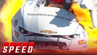 Robert Hight wins Funny Car final after major explosion & crash | 2018 NHRA DRAG RACING