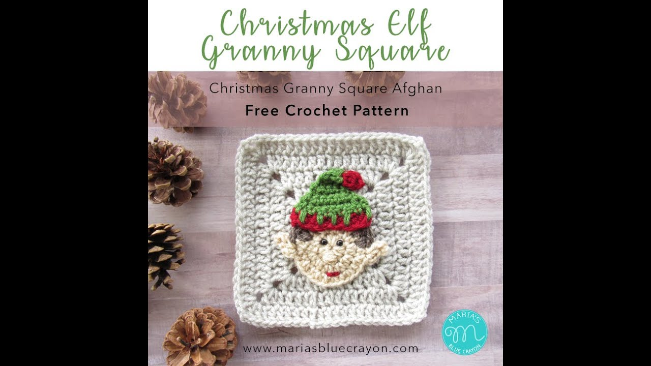 Elf Granny Square Crochet Tutorial Christmas Afghan Youtube