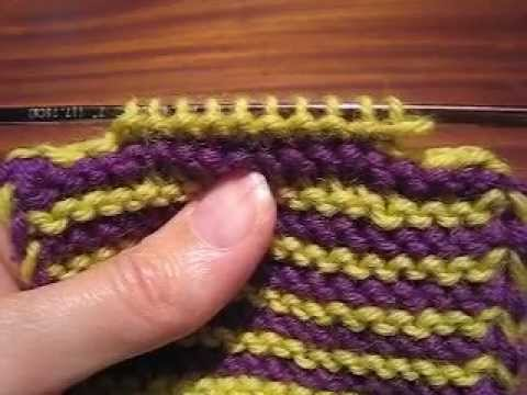 Bind-Off at Both Ends - YouTube
