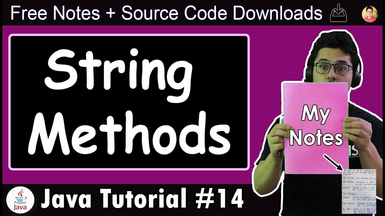 Java Tutorial: String Methods in Java