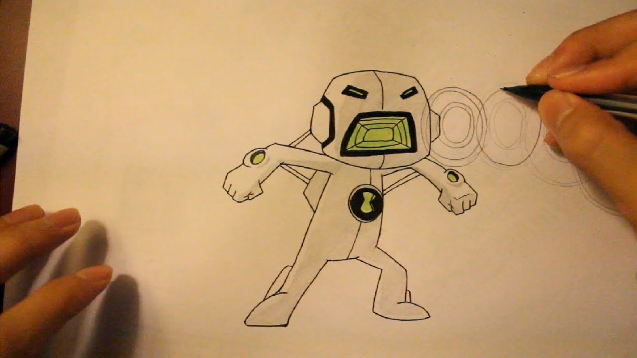 how to draw echo echo from ben 10 omniverse youtube