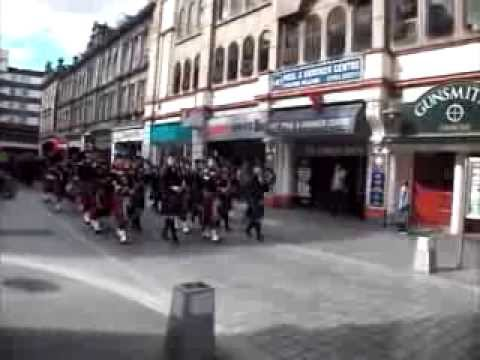Pipe bands at the Kirking of the Highland Council 2013