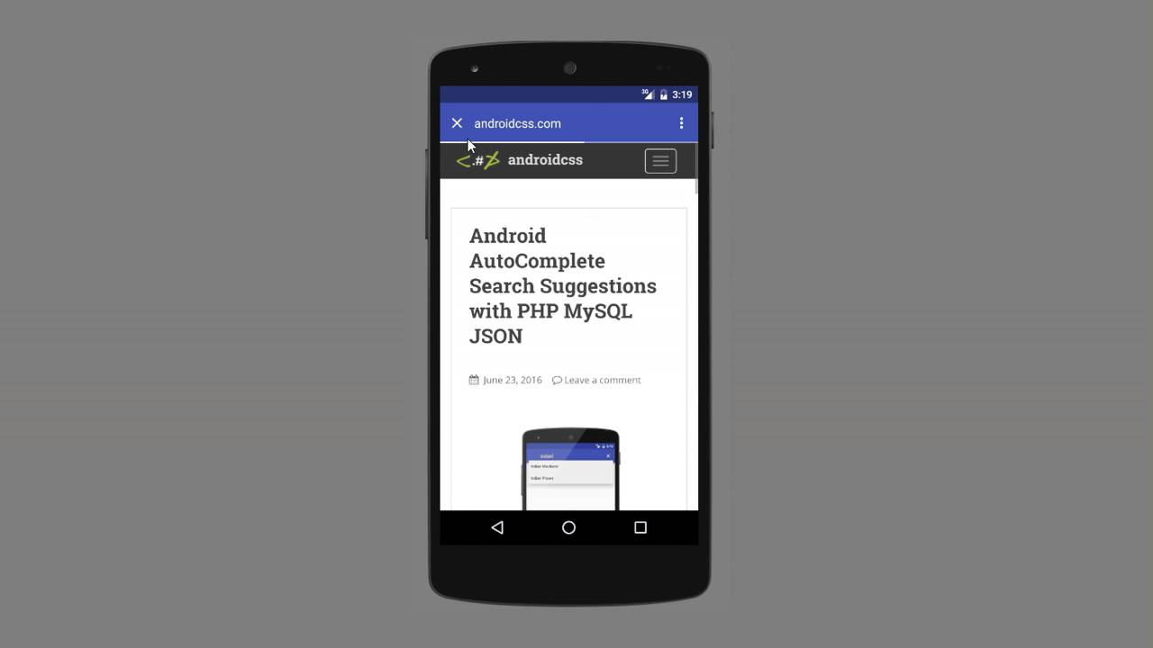 Chrome Custom Tabs Android Example
